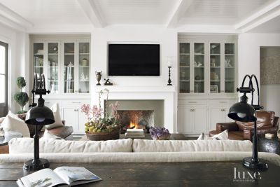 Contemporary White FarmhouseStyle Living Room