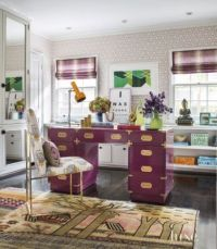 Eclectic Pink Home Office Desk | LuxeSource | Luxe ...
