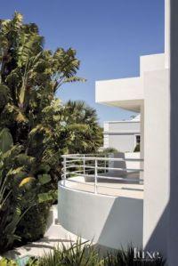 Modern White Balcony Exterior - Luxe Interiors + Design