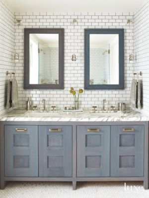 Subway Tile Bathroom Heavily Veined Marble Damon Liss Subway Tile Bathroom Kitchen And
