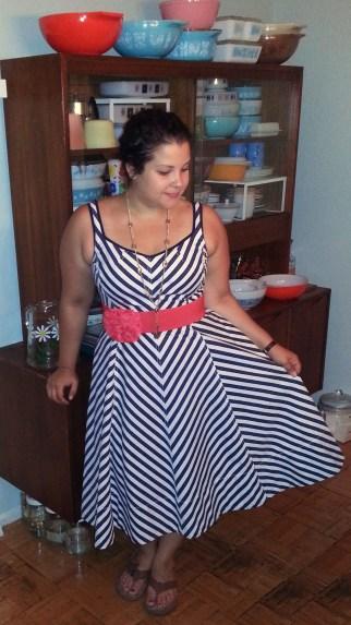 Talbots striped dress
