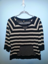 jones new york striped sweatshirt
