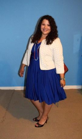 Henkaa Iris Convertible Dress - Royal Blue - Office Wear