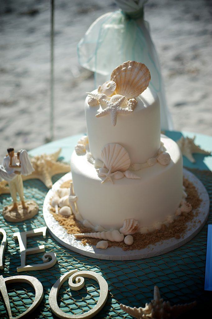 Simple Beach Wedding Cakes