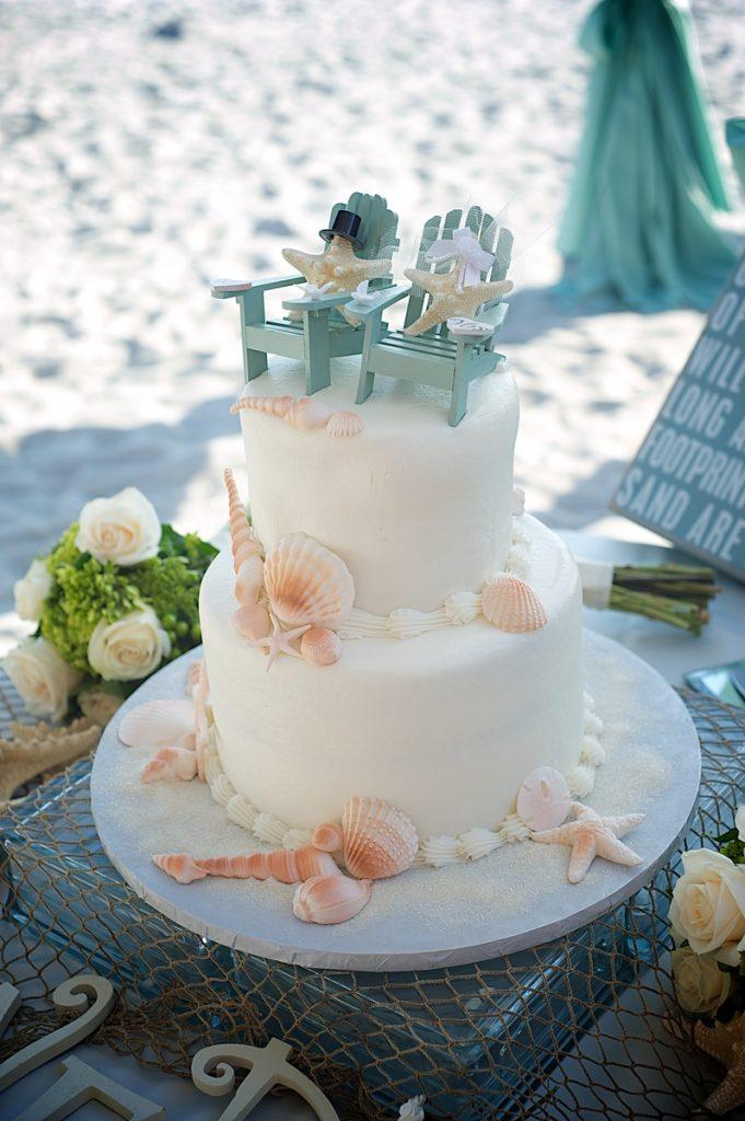 Simple Beach Wedding Cakes  Sand Petal Weddings