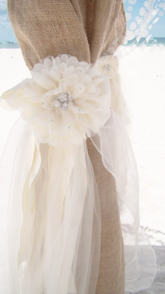 BURLAP BLING  BEACH WEDDING CEREMONY DECOR