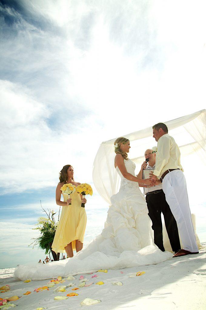 Lemon Yellow Beach Wedding Theme