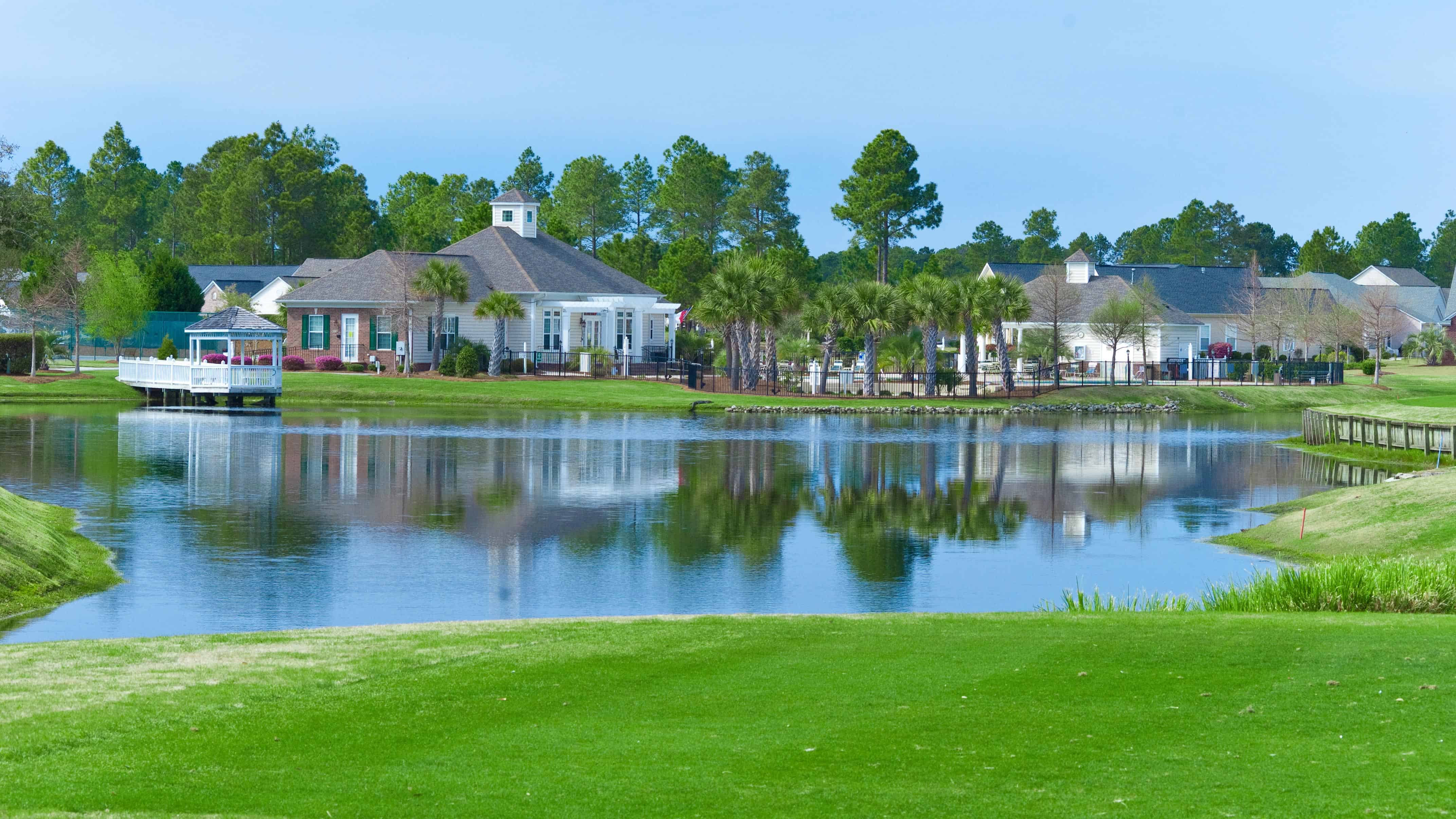 Sandpiper Bay Clubhouse and Lake