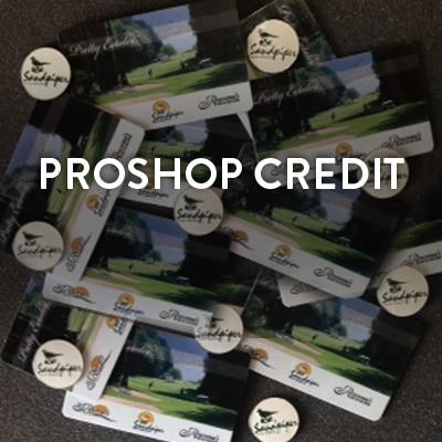 Pro Shop Credit