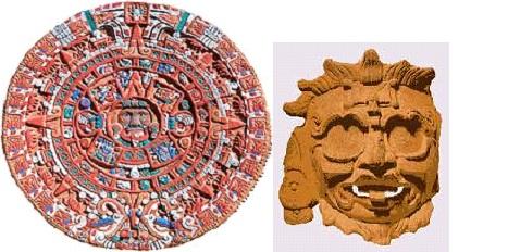 Тонатиу майа-маска бога солнца.