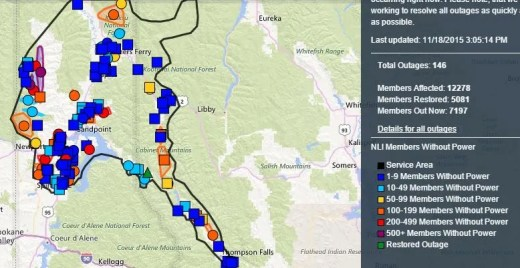North Idaho Power Outages