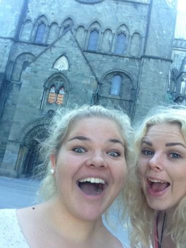 Marita and I sightseeing in Trondheim