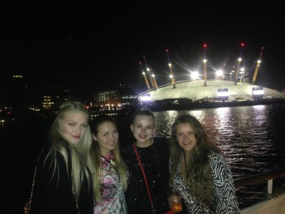 Elin, Kristina, me and Silje at the boat party