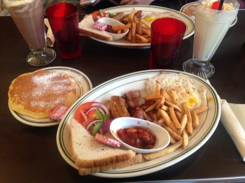 Breakfast at The Nighthawk Diner