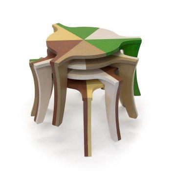 Nieuwe kleur voor de salontafel met 3 poten