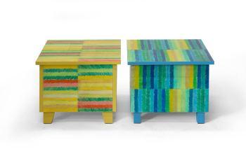 Nieuw ontwerp in de webwinkel: tafels met getekende strepen