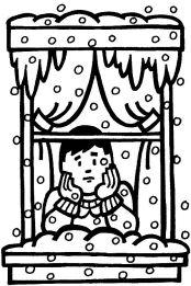 BOY AT WINDOW - SNOW