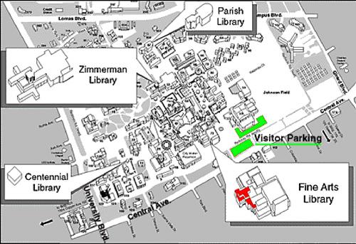Unm Campus Map Listing