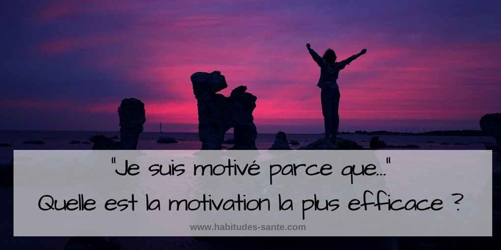 Je suis motive parce que, Quelle est la motivation la plus efficace