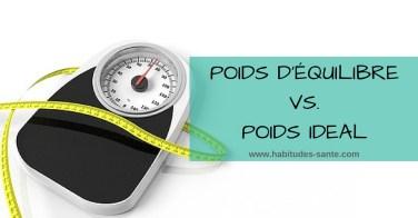 Poids d'équilibre ou poids santé Vs. poids ideal