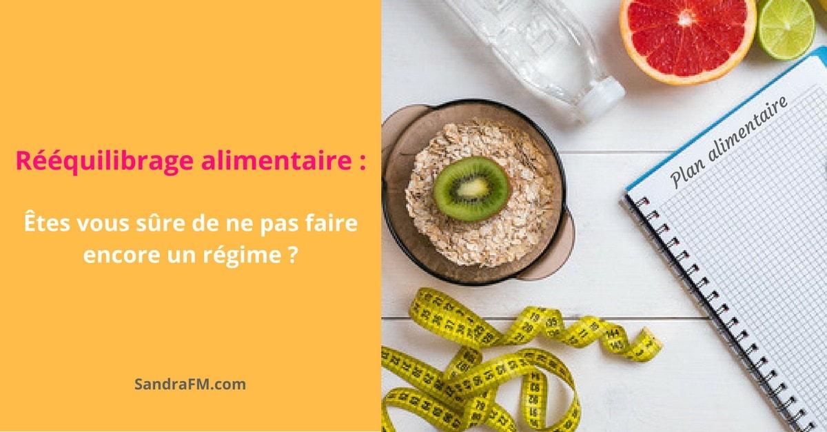 Reequilibrage alimentaire - Etes vous sure de ne pas faire encore un regime