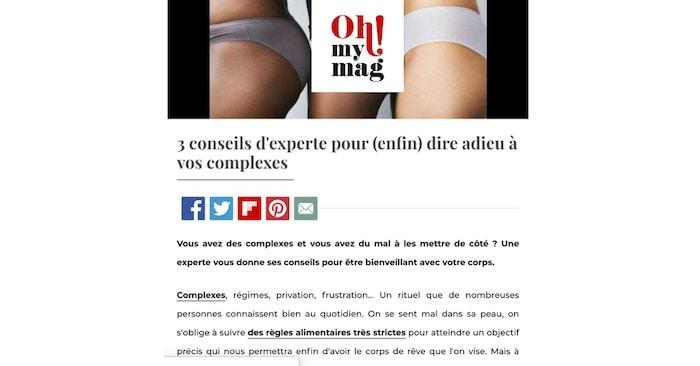 Oh My Mag, sandra fm, complexes, image de soi, image corporelle, poids, interview