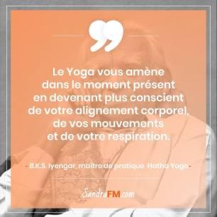 Je n'aime pas faire de sport comment faire Sandra FM image de soi Yoga citation