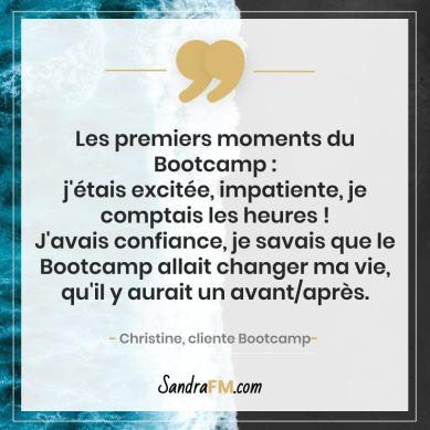 Bootcamp Avant Apres Temoignage Christine Libération Violence Psy Sandra FM changer ma vie