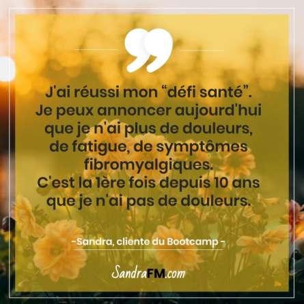 Libre de la fibromyalgie Sandra FM bootcamp défi santé