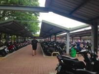 Mopedparkplatz