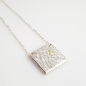 Linear Dot Square Necklace