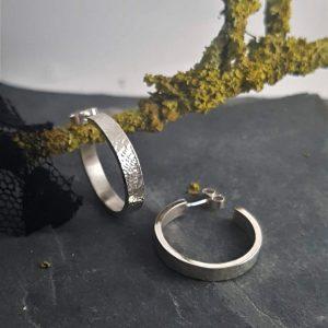 Metal & Lace Hoop Earrings