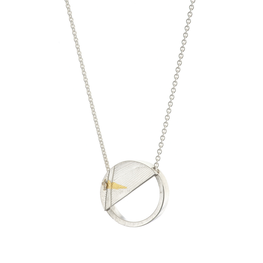 Birds of a Feather Small Semi-Circle Necklace