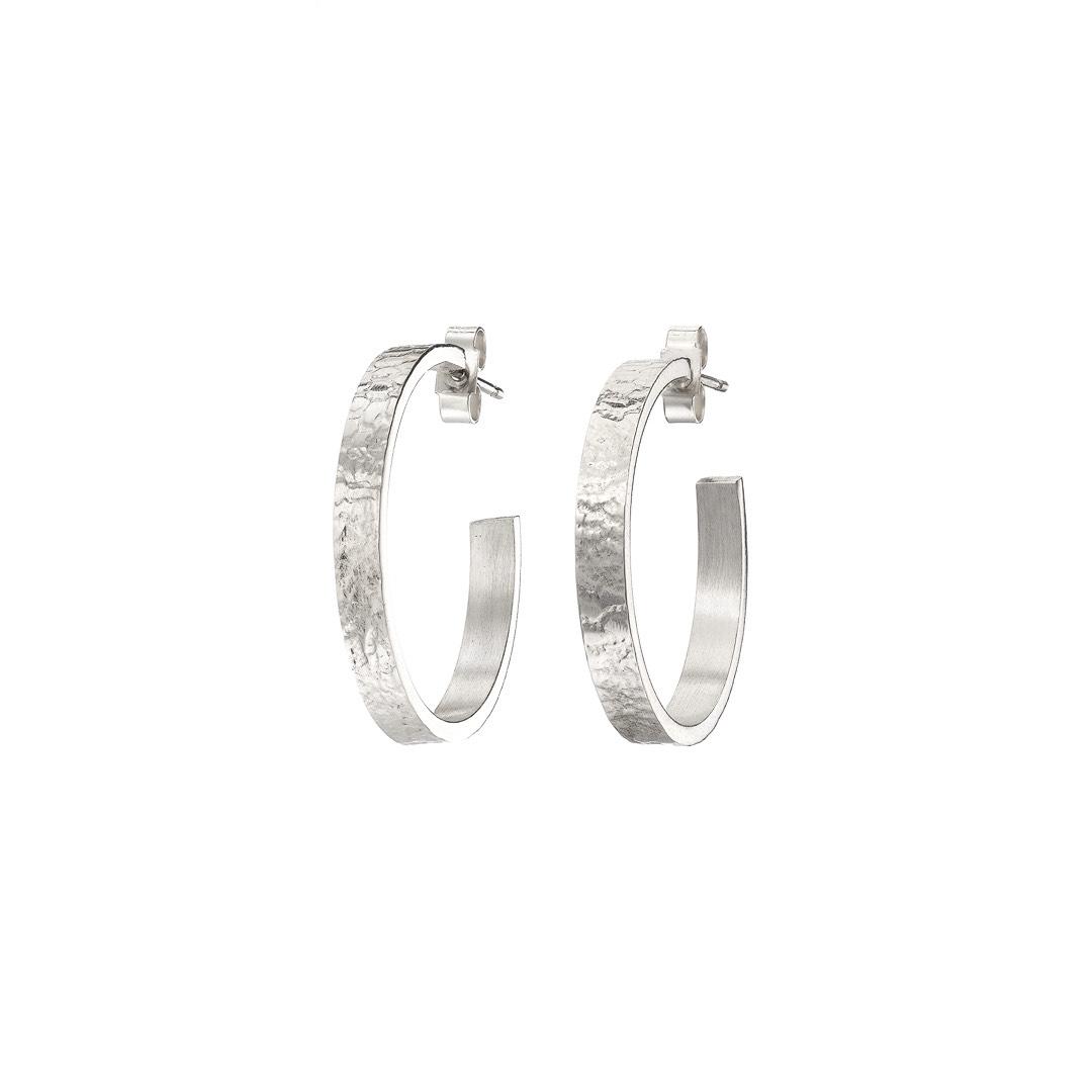 Metal & Lace Hoop Earrings LARGE