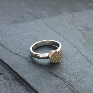 The Golden Hour Gold Dot Ring