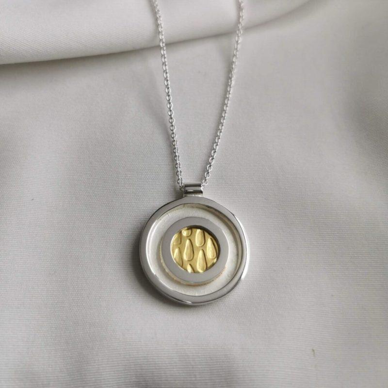 Mixed metal pendant