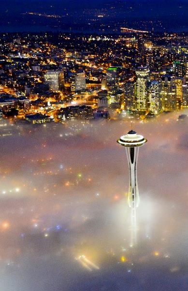 Seattle, Washington at Night