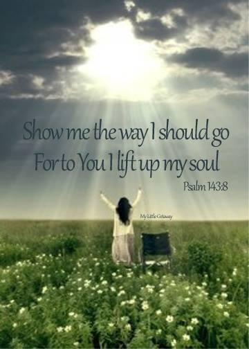 Show me the way I should go...