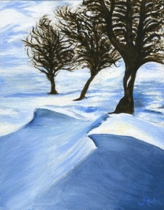 """Winter Sun"" 10""x8""/ 25cmx20cm, Acrylic on Canvas, by Sandra Mucha"