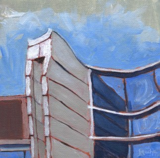 Blue and White Tower II by Sandra Mucha | Acrylic on Canvas | 5