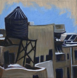 Sandra Mucha Artwork, rooftop painting