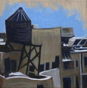 Sandra Mucha Artwork, rooftop painting