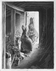 "Beatrix Potter, ""The Rabbits' Potting Shed"" (© Frederick Warne & Co. 2006)"