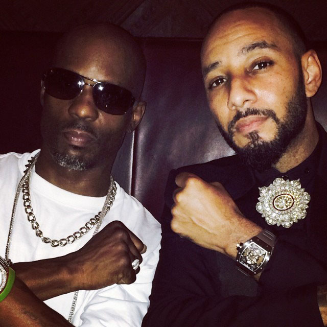 DMX and Swizz Beatz at his Coming To America Birthday Party