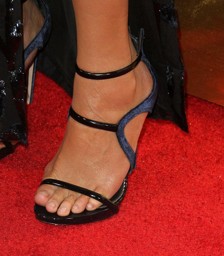 Chrissy Teigen shoe detail  Sandra Rose