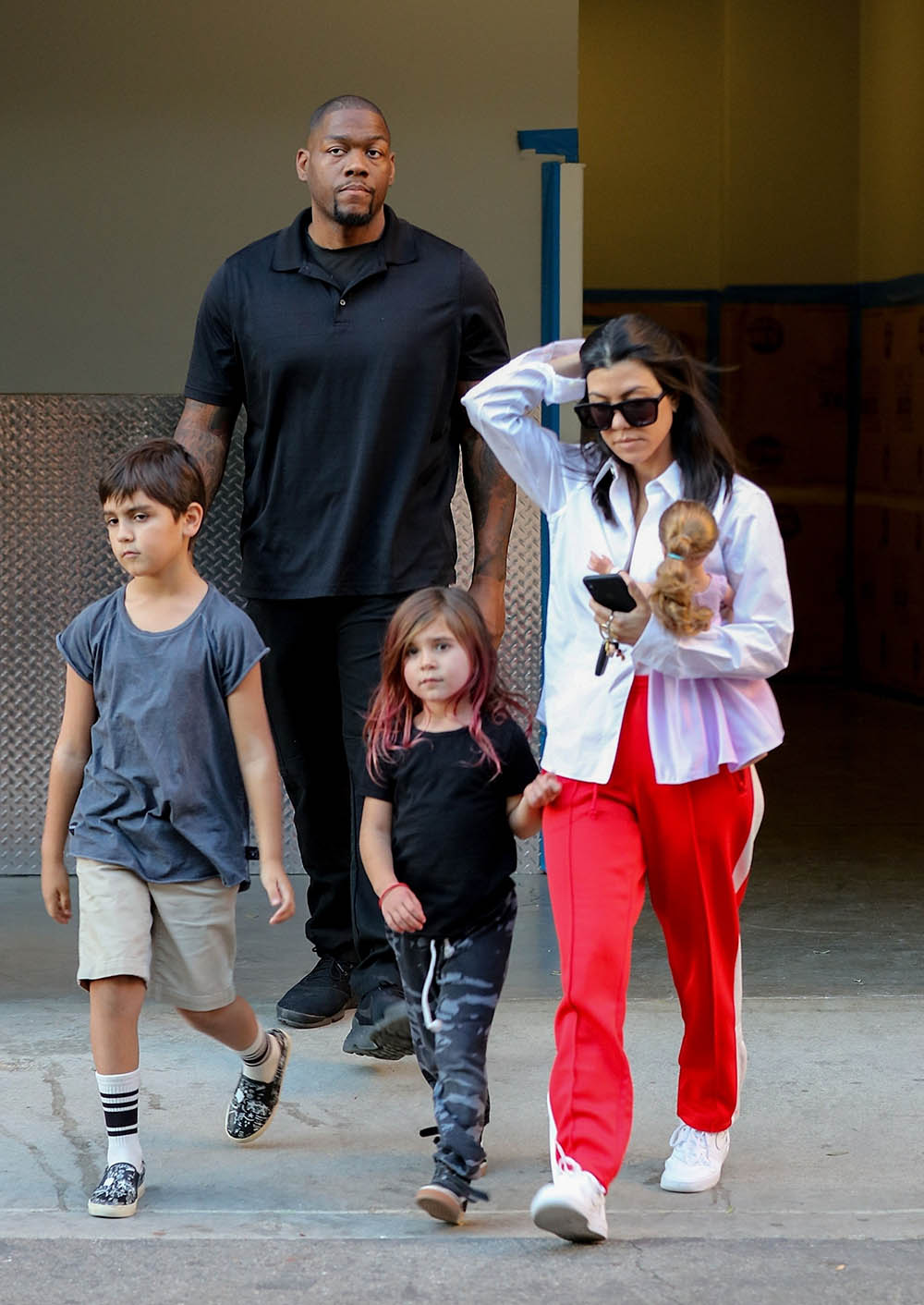 Kourtney Kardashian and kids Mason and Penelope  Sandra Rose