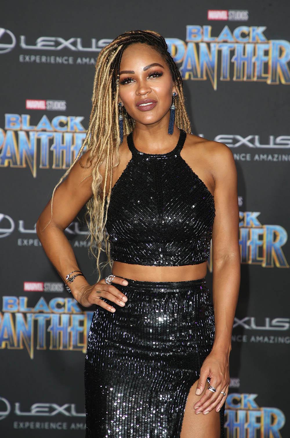 Meagan Good at Black Panther Film Premiere  Sandra Rose