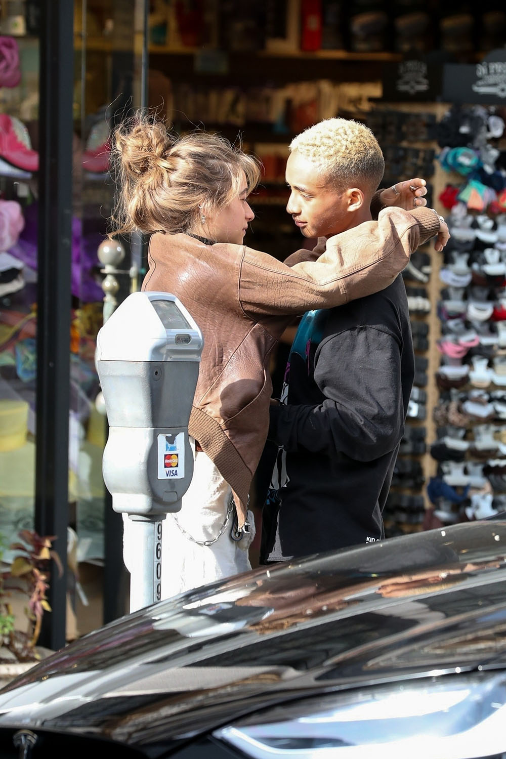 Jaden Smith and Odessa Adlon pack on the PDA in Beverly Hills  Sandra Rose