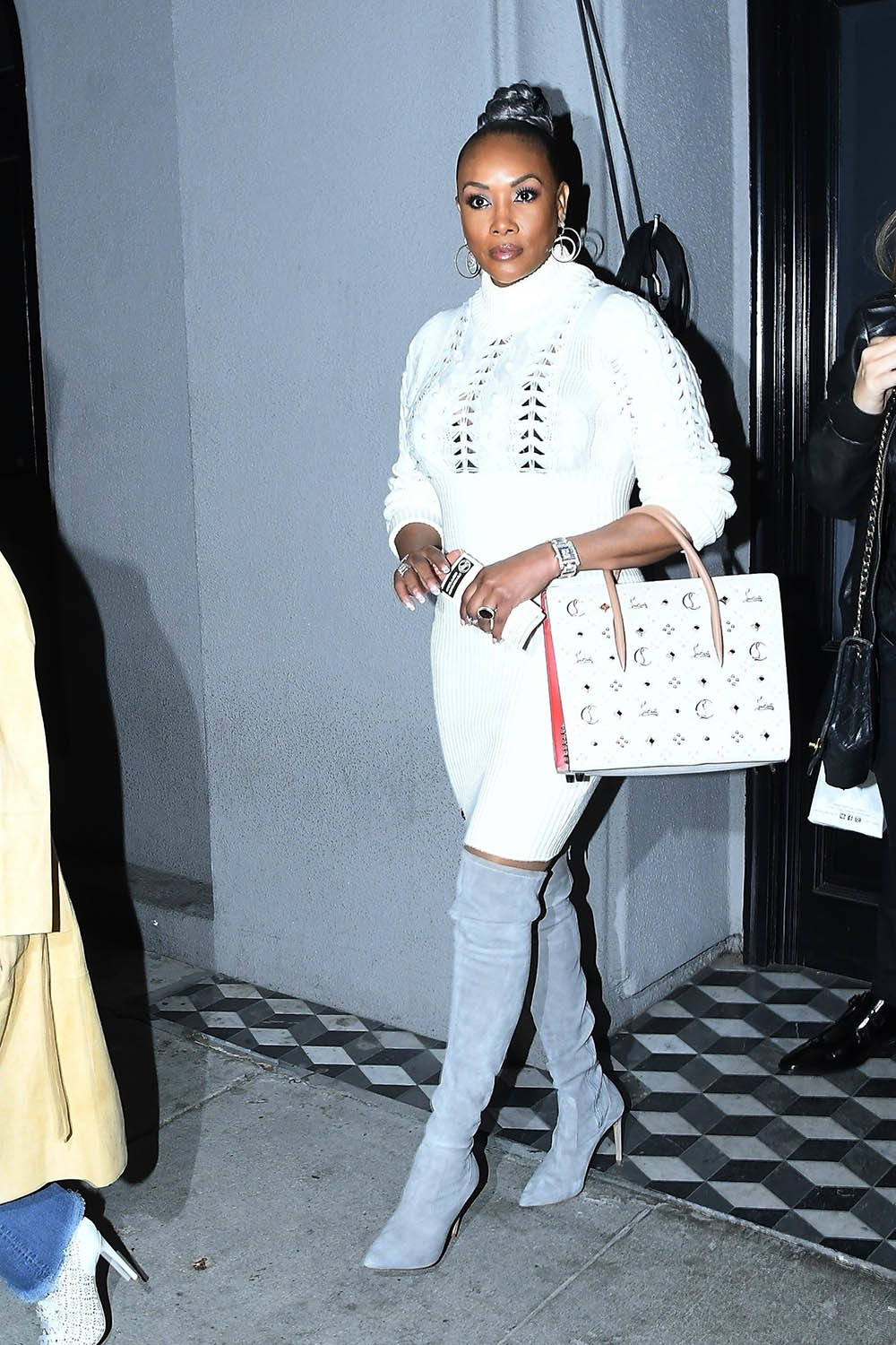 Vivica A Fox Keeps It Chic In White As She Meets BFF Jada