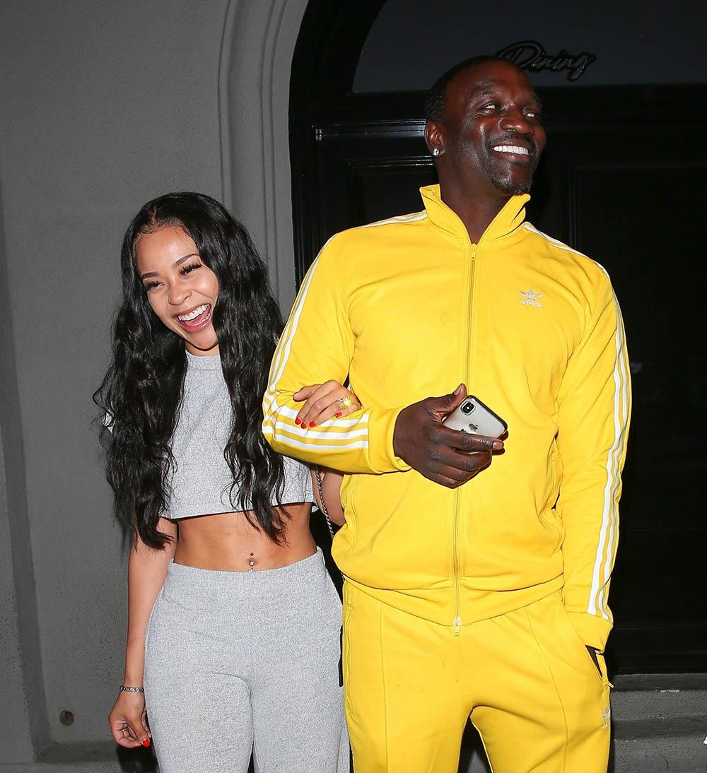 Akon and his girlfriend dine at Craigs  Sandra Rose